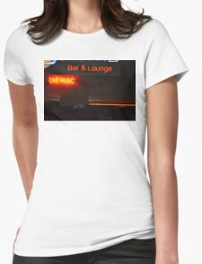 Live Music Sign Womens Fitted T-Shirt