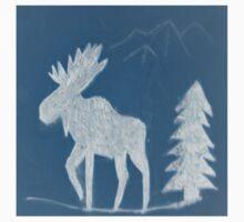 Snow Moose by Brian Blaine