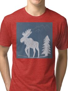 Snow Moose Tri-blend T-Shirt