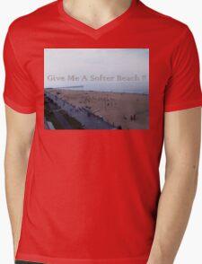 Softer Beach Mens V-Neck T-Shirt