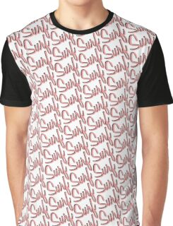 Surf Pattern Pink Graphic T-Shirt