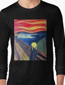 The Smile (The Scream, after Munch) Long Sleeve T-Shirt