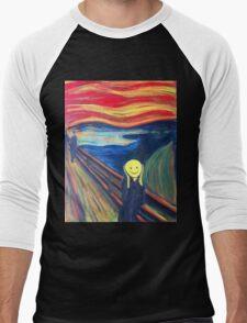 The Smile (The Scream, after Munch) Men's Baseball ¾ T-Shirt