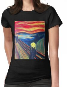 The Smile (The Scream, after Munch) Womens Fitted T-Shirt