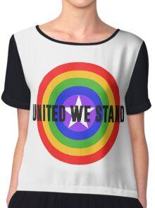 Rainbow Shield - United We Stand! Chiffon Top