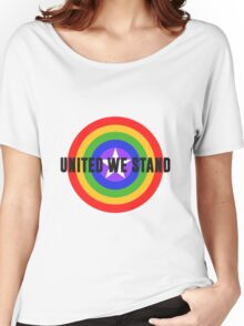 Rainbow Shield - United We Stand! Women's Relaxed Fit T-Shirt