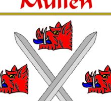 Mullen Coat of Arms/Family Crest Sticker