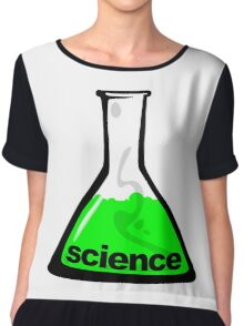 Science Beaker Green Chiffon Top