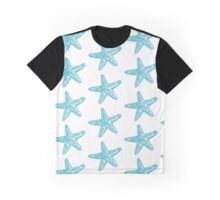 Starfish, Aqua Blue Graphic T-Shirt