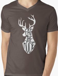 Eat the Rude Mens V-Neck T-Shirt