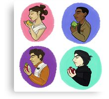 Force Kids With Food Canvas Print
