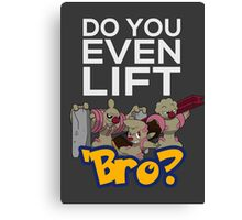 Do You Even Lift Bro - Pokemon - Conkeldurr Family Canvas Print