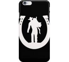 Cowboy with saddle iPhone Case/Skin