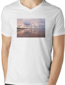 Mirror on Main Beach Mens V-Neck T-Shirt