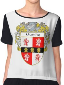 Murphy Coat of Arms/Family Crest Chiffon Top