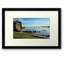 New England Seascape Framed Print