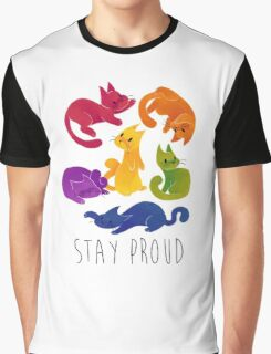 LGBT+ PRIDE CATS Graphic T-Shirt