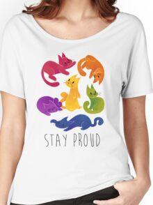 LGBT+ PRIDE CATS Women's Relaxed Fit T-Shirt