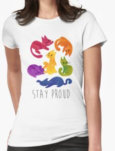 LGBT+ PRIDE CATS Womens Fitted T-Shirt