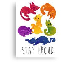 LGBT+ PRIDE CATS Canvas Print