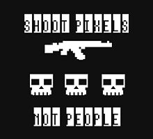 Shoot Pixels Not People (White) Unisex T-Shirt