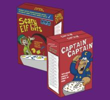 Scary Elf Bits and Captain Captain Cereal by SlubberBubArt
