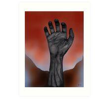 Night of the Living Hand Art Print