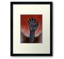 Night of the Living Hand Framed Print