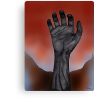 Night of the Living Hand Canvas Print