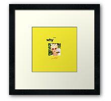 Girls' Generation (SNSD) Taeyeon - Why #2 Framed Print