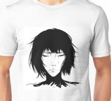 Black Hair & Neck - Female Unisex T-Shirt