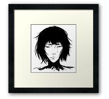 Black Hair & Neck - Female Framed Print