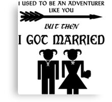 Skyrim Marriage Canvas Print