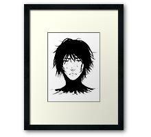Black Hair & Neck - Male Framed Print