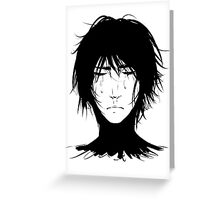 Black Hair & Neck - Male Greeting Card