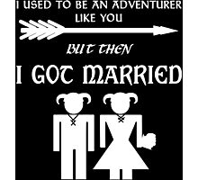 Skyrim Marriage (White) Photographic Print