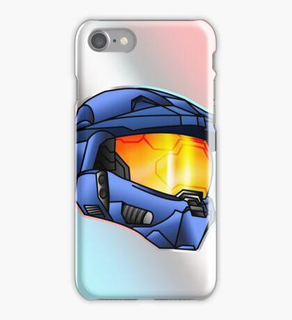 Stylised Spartan Blue iPhone Case/Skin