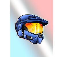 Stylised Spartan Blue Photographic Print
