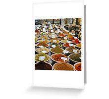 Spice Market, Jerusalem Greeting Card