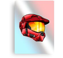 Stylised Spartan Red Canvas Print