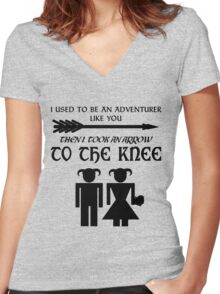 I used to be an adventurer Women's Fitted V-Neck T-Shirt