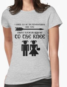 I used to be an adventurer Womens Fitted T-Shirt