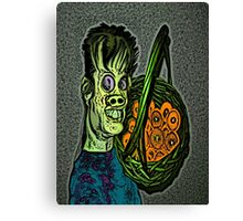 Zombie with a Fruit Basket Canvas Print