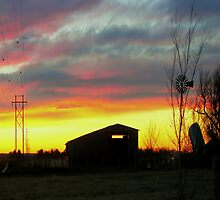 Sunset on the Farm by JohnDSmith