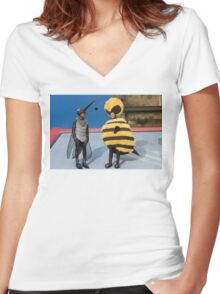 Bee Movie: Jerry Seinfeld and Chris Rock Women's Fitted V-Neck T-Shirt