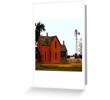 Three little Pigs House Greeting Card