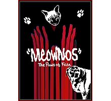 """""""Meownos"""" The Paws of Fate Photographic Print"""