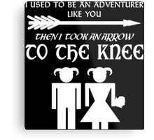 I used to be an adventurer (White) Metal Print