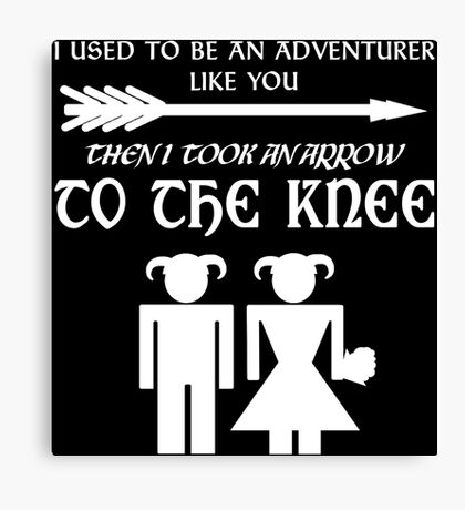 I used to be an adventurer (White) Canvas Print