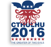 Vote Cthulhu 2016 Canvas Print